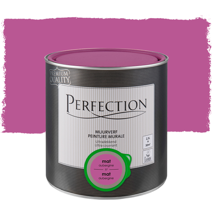 Perfection muurverf ultradekkend mat aubergine 2,5L
