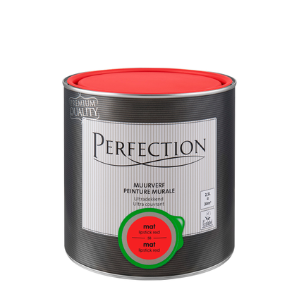 Perfection muurverf ultradekkend mat lipstick red 2,5L