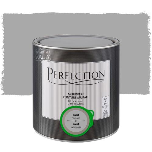 Perfection muurverf ultradekkend mat muisgrijs 2,5L