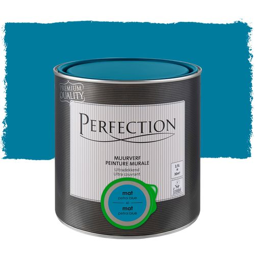 Perfection muurverf ultradekkend mat petrol blue 2,5L