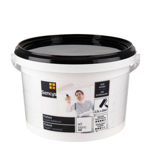 Sencys plafondverf Superdekkend mat wit 2,5L