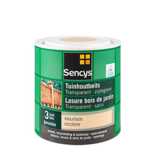Sencys tuinhoutbeits transparant zijdeglans kleurloos 2,5L