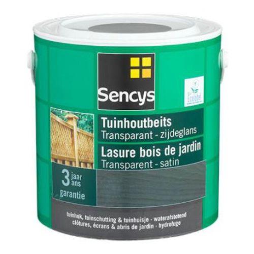 Lasure bois de jardin Sencys transparent marron foncé satin 3L