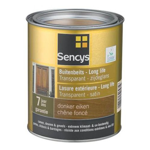 Sencys lasure satin ext. transp. Long Life chêne foncé 2,5L