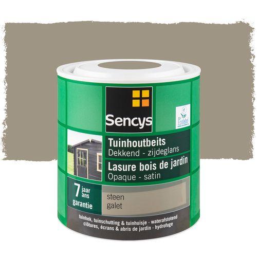 Sencys tuinhoutbeits dekkend zijdeglans steen 2,5L