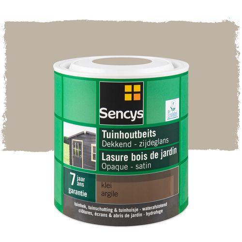 Sencys tuinhoutbeits dekkend zijdeglans klei 2,5L