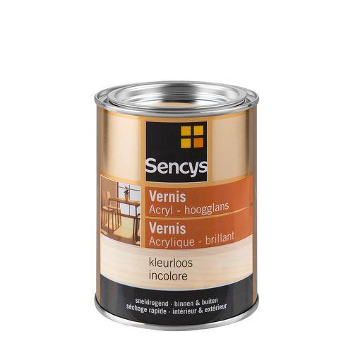 Sencys vernis acryl hoogglans kleurloos 500ml