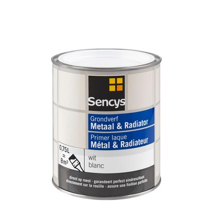 Sencys primer metaal en radiator wit 750ml
