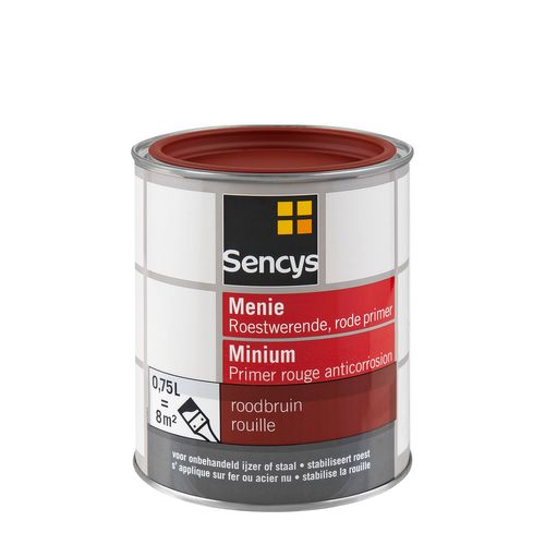 Sencys grondverf menie rood 750ml