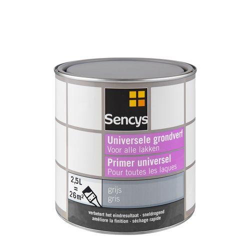 Sencys universele grondverf grijs 2,5L