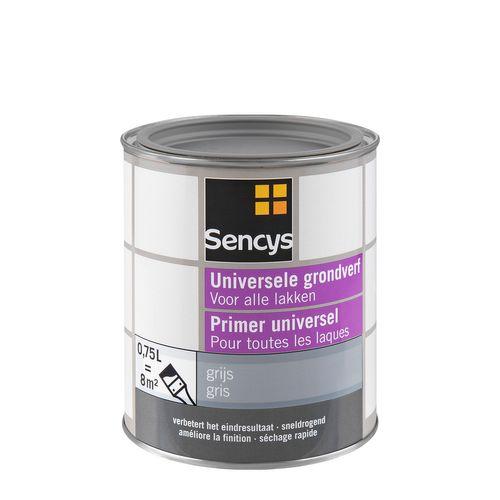 Sencys universele grondverf grijs 750ml