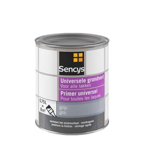 Sencys grondverf universeel grijs 750 ml