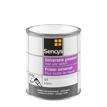 Sencys universele grondverf wit 750ml