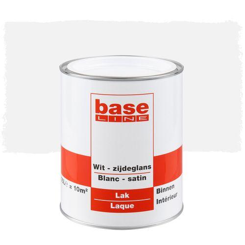 Baseline lak zijdeglans wit 750ml