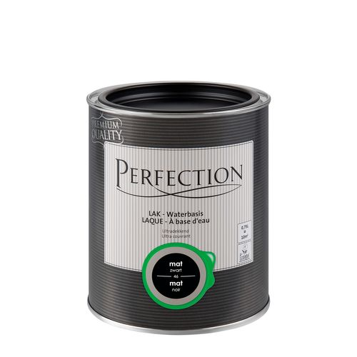 Perfection lak Ultradekkend mat zwart 750ml
