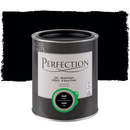 Perfection lak mat koolstof zwart 750ml