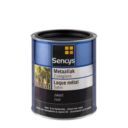 Peinture métallisée Sencys satin noir 750 ml