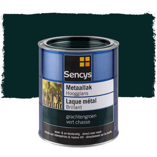 Laque métal Sencys brillante vert chasse 750ml