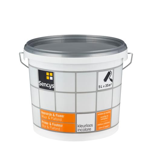 Sencys fixeerprimer 'Muur & Plafond' kleurloos 5 L