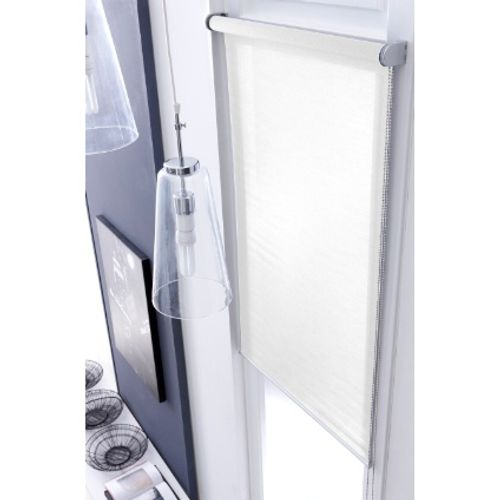 Store enrouleur Madeco 'Voile Mesh' tamisant blanc 100 x 250 cm