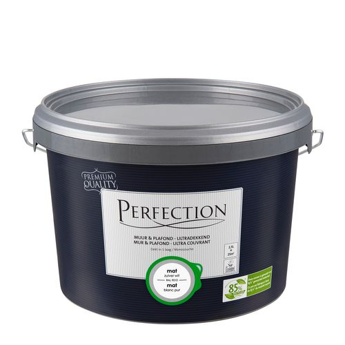 Peinture latex Perfection 'Mur & Plafond Ultra Couvrant' blanc pur mat 2,5L