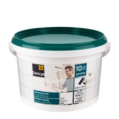 Sencys buitenmuurverf Superdekkend mat wit 2,5L