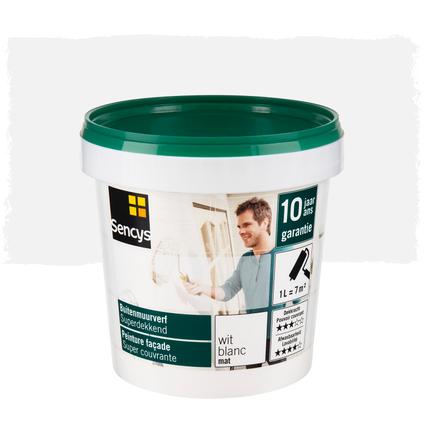 Peinture façade Sencys super couvrante mat blanc 1L