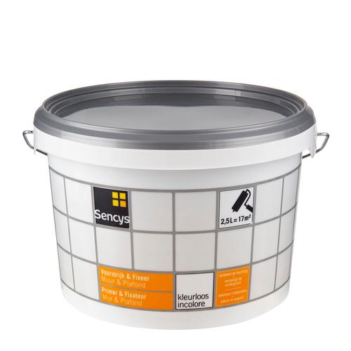 Sencys fixeerprimer 'Muur & Plafond' kleurloos 2,5 L