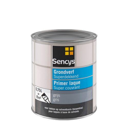 Sencys grondverf Superdekkend grijs 750ml