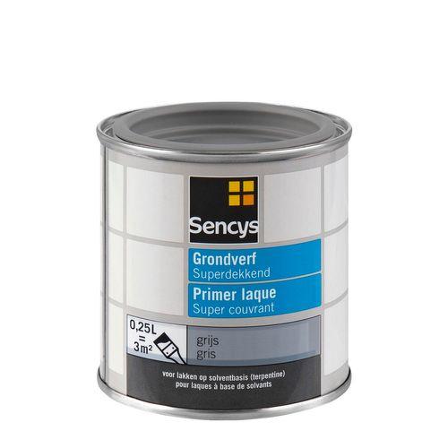 Sencys grondverf Superdekkend grijs 250ml