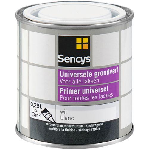 Sencys grondverf universeel wit 250ml