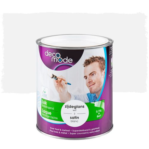 Laque Decomode séchage rapide blanc satin 750ml