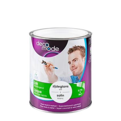 Laque Decomode 'Séchage Rapide' blanc satin 750ml