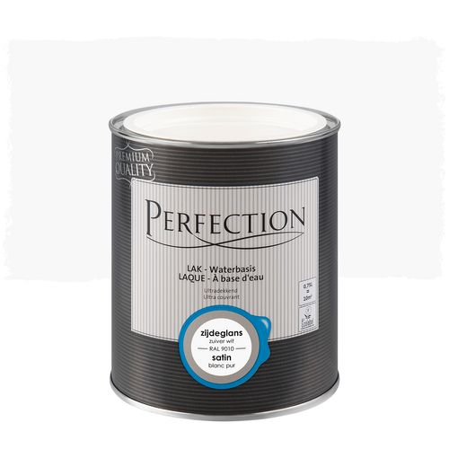 Laque Perfection utra couvrant satin blanc pur RAL 9010 750ml