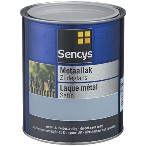 Sencys metaalverf zijdeglans wit 250ml