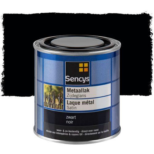 Sencys metaallak zijdeglans zwart 250ml