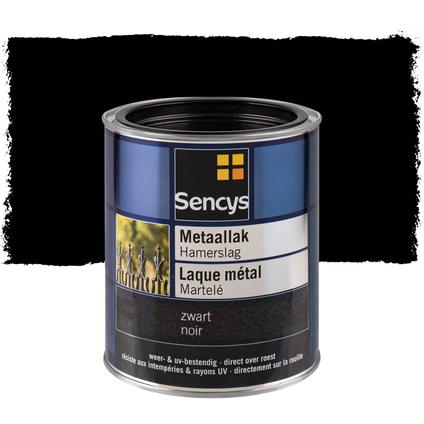 Laque métal martelé brillant Sencys noir 750ml