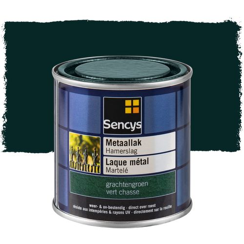 Sencys metaallak hamerslag hoogglans grachtengroen 250ml