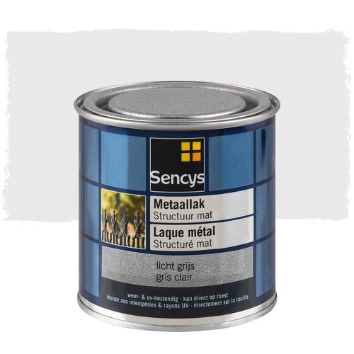Sencys metaalverf structuur mat licht grijs 250ml
