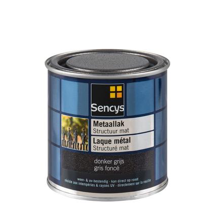 Laque métal Sencys structuré mat gris foncé 250ml