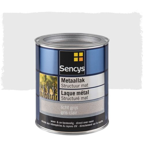 Sencys laque métal structurée mate gris clair 750ml