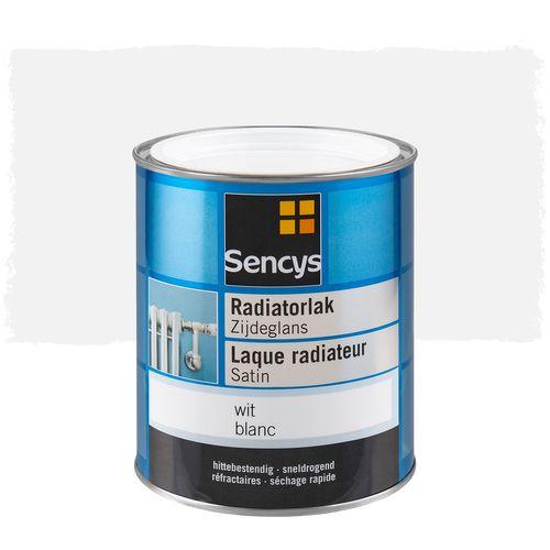 Sencys radiatorlak zijdeglans wit 750ml