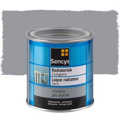 Sencys laque radiateur satinée gris argenté 250ml
