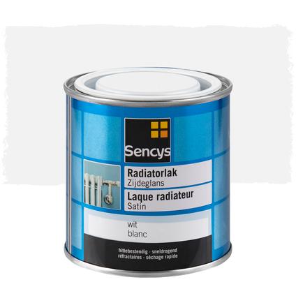 Laque radiateur Sencys satin blanc 250ml