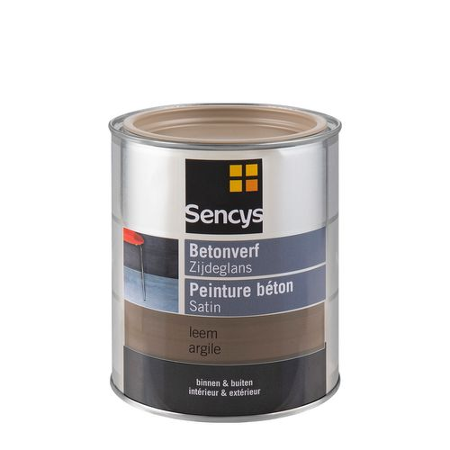 Sencys betonverf zijdeglans leem 750ml