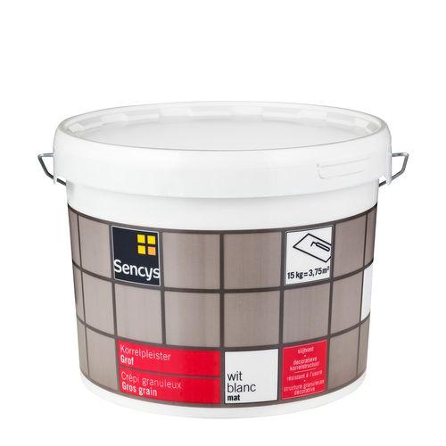 Sencys korrelpleister grof mat wit 15kg