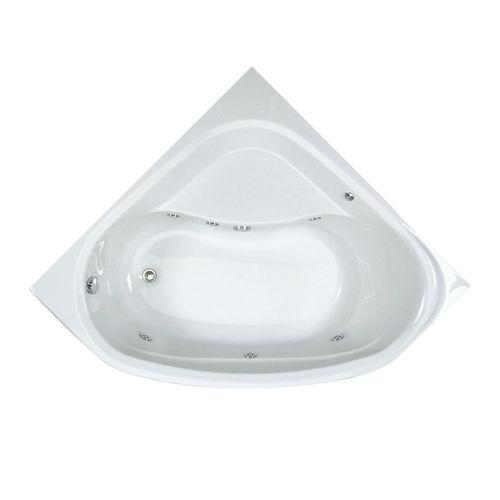 Allibert hoekbad Lucina Aquazen² met badmantel 140x140cm wit