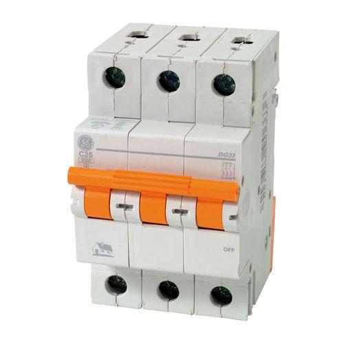 Disjoncteur modulaire Vynckier 3P 25A gris