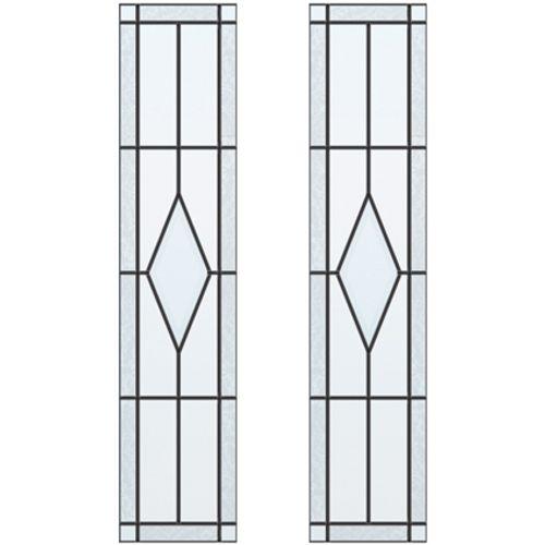 CanDo glas-in-lood Diamond ML 697 201,5 I 211,5 x 93cm 2 stuks