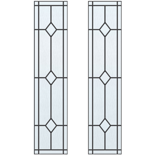 CanDo glas-in-lood Jewel ML 697 201,5 I 211,5 x 93cm 2 stuks